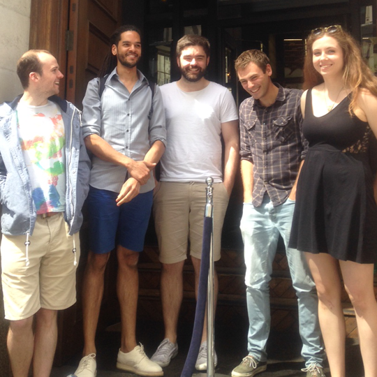 Photo of Team lunch at Haz, London 2015